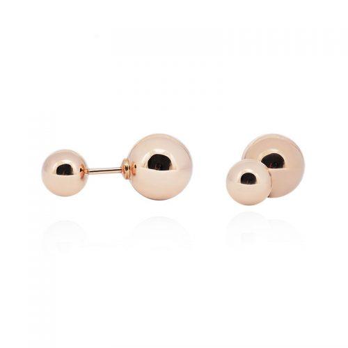 Dvipusiai auksiniai auskarai - burbulai