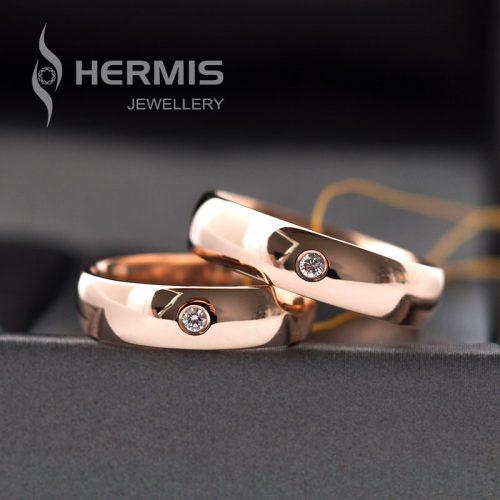 [:lt]Klasikiniai vestuviniai žiedai su briliantais 5mm pločio[:en]Classic diamond wedding rings 5mm wide[:]