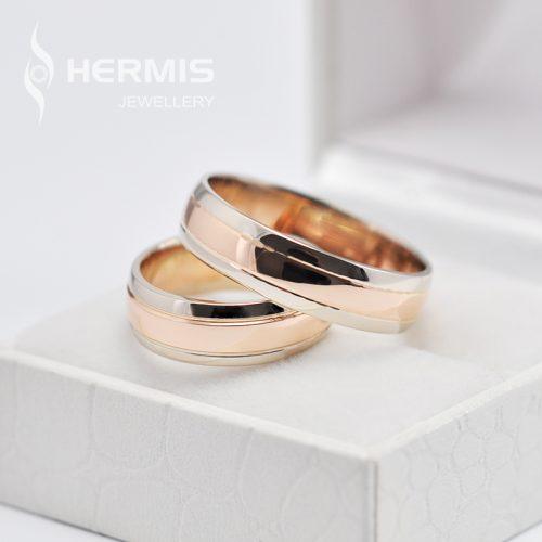 [:lt]Raudono ir balto aukso vestuviniai žiedai[:en]Rose and white gold wedding rings[:]