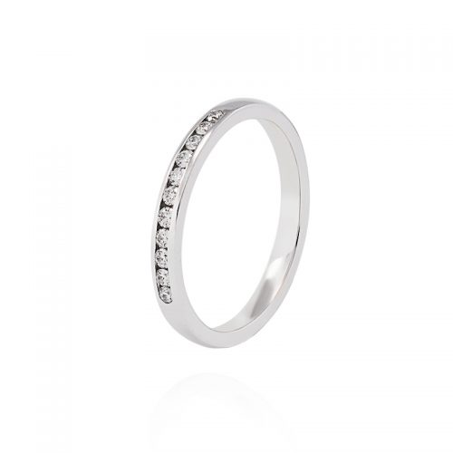 Balto aukso žiedas su briliantais P1088